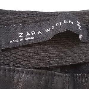 Zara leather jeans